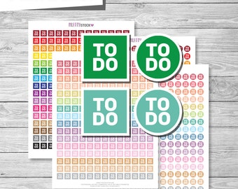 To Do Stickers, Printable To Do Planner Stickers, To Do Planner Stickers, To Do Icons Planner Stickers - PS47