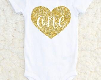 First Birthday Outfit Girl - First Birthday Shirt - Baby Girl Birthday One Piece - Birthday Girl Glitter 1st Birthday Tshirt