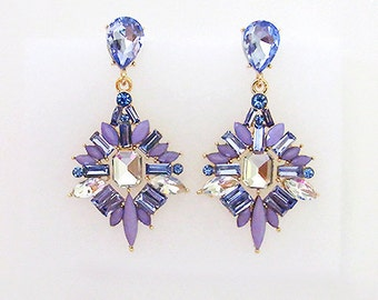 VanGarden DELPHINE Drop Earrings in Purple