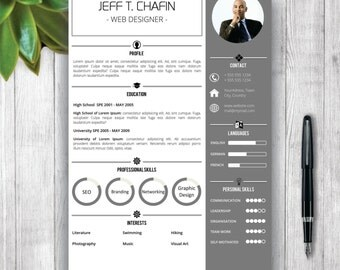 professional resume template cover letter word cv template simple resume template design - Resume Format Design
