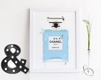 Original No5 Chanel Perfume Bottle,Coco Chanel Perfume,Chanel Perfume Paris Bottle,Birthday Gift,Gift For Wife,Perfume Illustration,Fashion