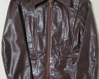 Leather Jacket, Avant Garde, Made in USA, Vintage
