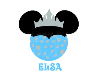 Frozen Elsa Minnie Mouse Vinyl Iron Disney On Decal Disney World Vacation Princess Matching Mother Daughter Disney Iron On Decal 4 Shirt 096