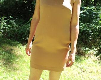 Vintage Mod Dress - Tan