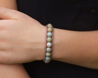 African Opal VEGAN Wrap Bracelet