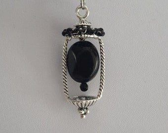 Black Lantern Necklace.