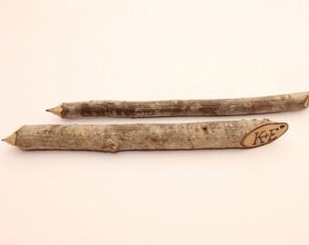 Personalized wooden pencils | Rustic wedding decors | Rustic pencils