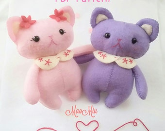 Chubby Kitty PDF Pattern - Instant Download / Cat Plushie / Kitty Plush / Felt Pattern