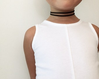 Toddler/Kids Double Suede Leather Cord Choker