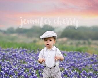 Texas Bluebonnet Digital Photography Backdrop