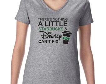 Disney Starbucks Vneck Tshirt