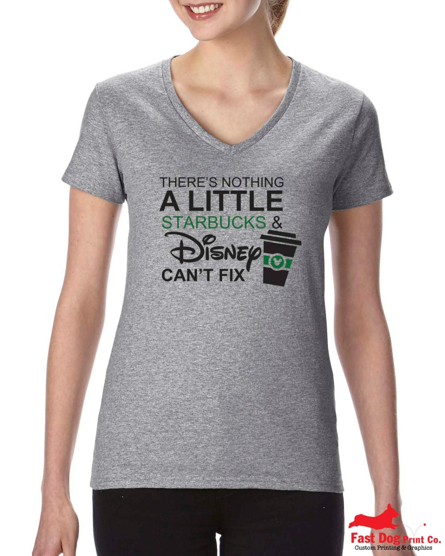 Disney Starbucks V-neck T-shirt