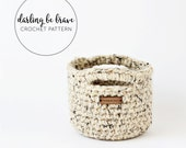 MINI BASKET | crochet pattern and tutorial, small basket pattern, chunky yarn crochet pattern, pdf file, instant download