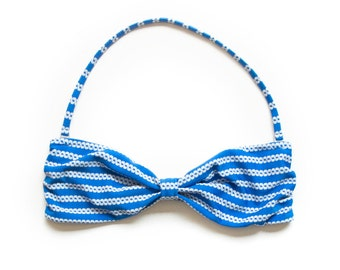 Butterfly Bandeau Blue Chain