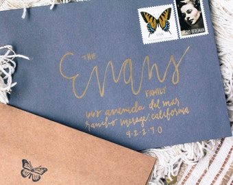 "Custom Wedding Calligraphy Envelope Addressing: ""The Claudette"""