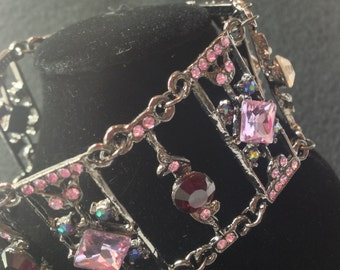 Jewel Wrist Cuff Bracelet