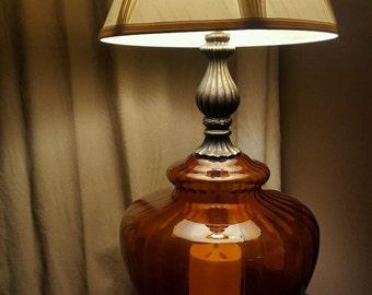 Vintage Falkenstein 7315 Mid-Century glass globe table lamp
