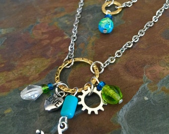 Cycling In Circles Bicycle Necklace