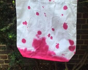 Pink Splatter Tote