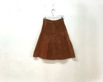 Honey Suede Skirt