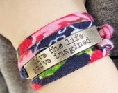 Live the Life You've Imagined Word Quote Wrap Bracelet