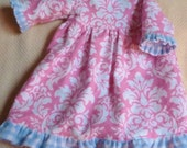 American Girl Doll Flannel Nightgown Ready to Ship for free in the US