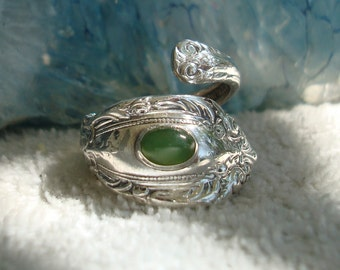 Vintage Jade Towle Sterling Spoon Ring King Richard dmfsparkles