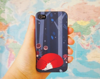Fox iPhone case, 3D illustrated cover, cover Galaxy S5 case, artistic case