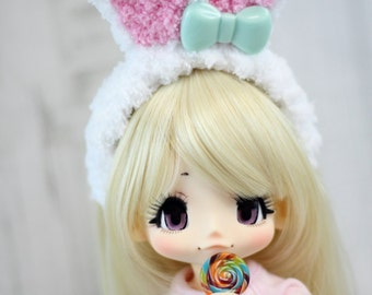 Kikipop Bunny Ears Headband, Kinokojuice Rabbit Ears Hair Accessory