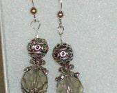 Bali Silver Topaz Earrings