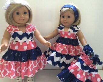 Liddy 18 inch Doll PDF Pattern Twirly Girly Boutique Dress Juvie Moon  E Book Tutorial   DIY