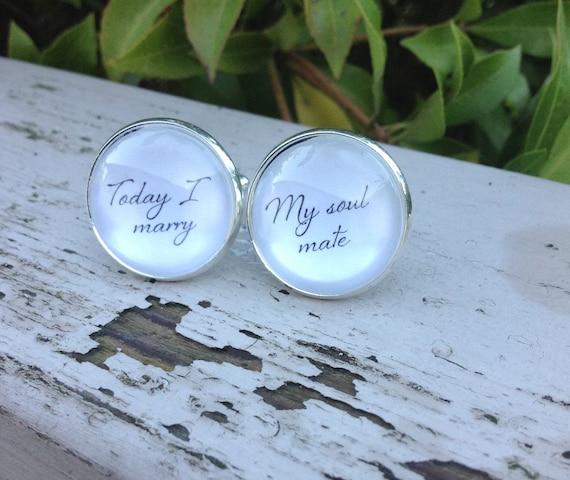 Wedding Gift Cufflinks For Groom : Gift for Groom, Groom Cuff links, Wedding Cufflinks
