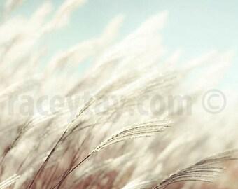 Pastel Beach Decor, Blue Beach Print, White, Blue, Nature Photography, Blue Beach House Decor, Cream, Pastel Blue