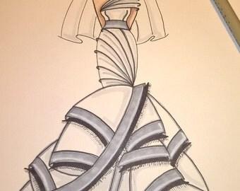 wedding gown sketch