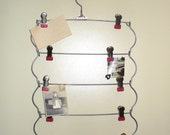 Vintage Pant Hanger,  5 Tier Metal Clothes Hanger or Photo Display
