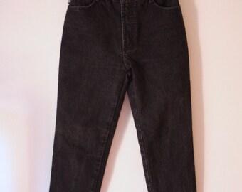 Vintage 90s Black BONGO Classic High Waist Jeans Medium 28