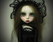 SALE - Handmade Collectible Unique -OOAK- Clay poseable  Art doll- Isabelle