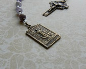St. Agnes of Rome Pocket Rosary - Chaplet - Catholic - First Communion - Confirmation - Antique Bronze - Patron Saint