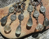 Whisper            Antique French Religious Chandelier Earrings