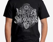 Werewolves Not Swearwolves T-shirt - Black Werewolves Not Swearwolves Shirt - What We Do In The Shadows Shirt - Black We're Wolves Shirt