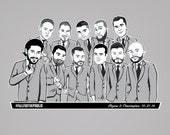 Classic Suited Shirt (Wedding Party Caricatures)