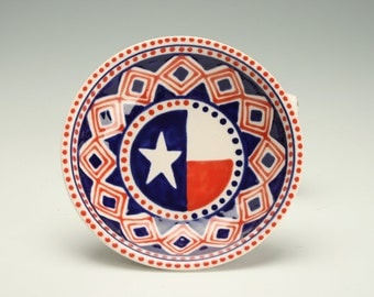 USA Bowl, Candy Nut Bowl, Ring Trinket Bowl, America Red White and Blue, July 4 Decoration, American Dinnerware, Stars and Stripes