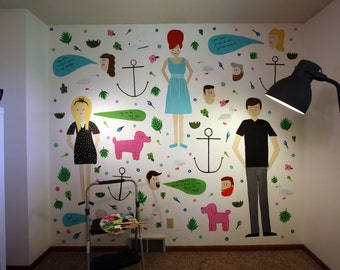 Custom Hand Painted Mural Wall