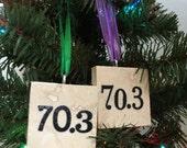 Triathlon 70.3 Ornament Half Ironman Mixed Fonts