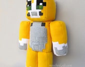 "Stampy cat plushie Stampy long nose softie Minecraft inspired doll 23""- MADE TO ORDER"