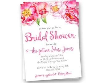 Bridal Shower Invitation, Rustic Wedding Shower Invitation, Printable Bridal Shower Invitation