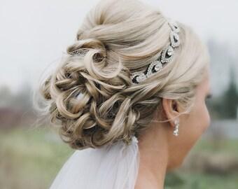 Bridal Headband, Bridal Head Piece, wedding headpiece, Rhinestone Headband, Wedding Headband, Bridal Hair Piece, Bridal Headpiece, silver