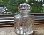 Vintage Balenciaga Crystal Perfume Bottle with Stopper