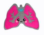 Lungs plushee / pillow / cushion / comfort pillow kawaii novelty organ geekery science anatomy awareness