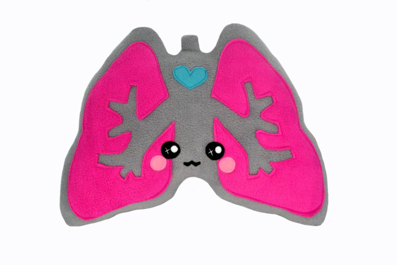 Lungs plushee / pillow / cushion / comfort pillow kawaii